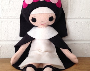 Catholic Toy Doll - Saint Rose of Lima - Wool Felt Blend - Catholic Toy - Felt Doll