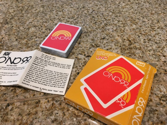 1980s Uno Ono 99 Card Game Complete Unopened Chips And Playing