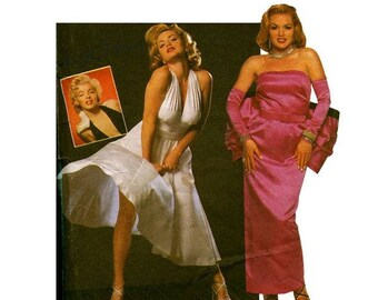 UNCUT Simplicity 8393 or 0668 Sewing Pattern Size N 10-14 Misses' Marilyn Monroe Seven Year Itch/Gentlemen Prefer Blondes