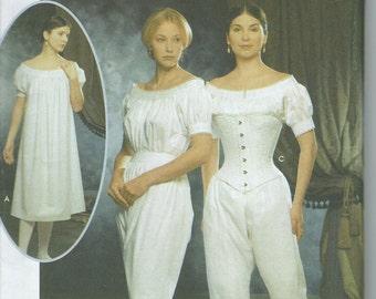 UNCUT Simplicity 9769 Sewing Pattern Civil War Undergarments Misses' Sizes 14-20