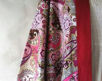 Burgundy Paisley Kimono/Robe