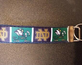Notre Dame Fighting Irish Key Fob, Wristlet, Key Chain