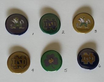 """Notre Dame Fighting Irish Pin Back Buttons 1.25"""""""