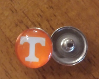 University of Tennessee Vols Inspired Snap Charm - Ginger Snap - Noosa Snap - Chunk Snap