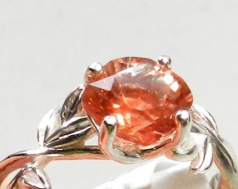 67bb4e1ab Oregon Sunstone Ring - Sterling silver Ring - Red Sunstone Ring - Solitaire  Ring - #53