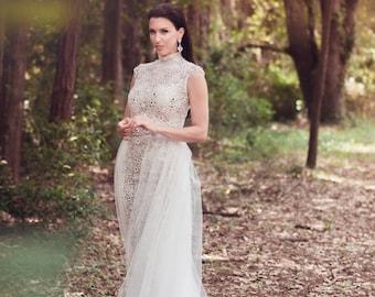 Lace & Mirrors Wedding Dress
