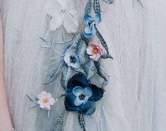 3-D applique floral Dress
