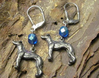 Pewter Greyhound Earrings Benefit Sale