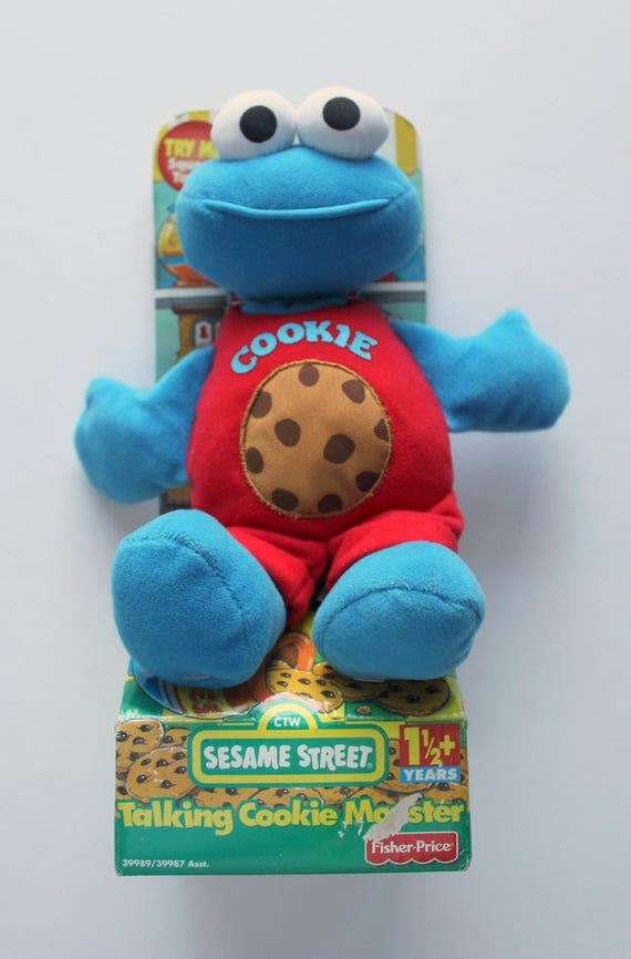 Vintage New Fisher Price Talking Cookie Monster Plush Toy