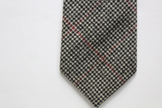 Vintage Polo By Ralph Lauren Houndstooth Wool Nec… - image 1