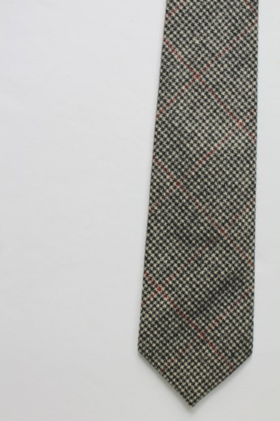 Vintage Polo By Ralph Lauren Houndstooth Wool Nec… - image 2