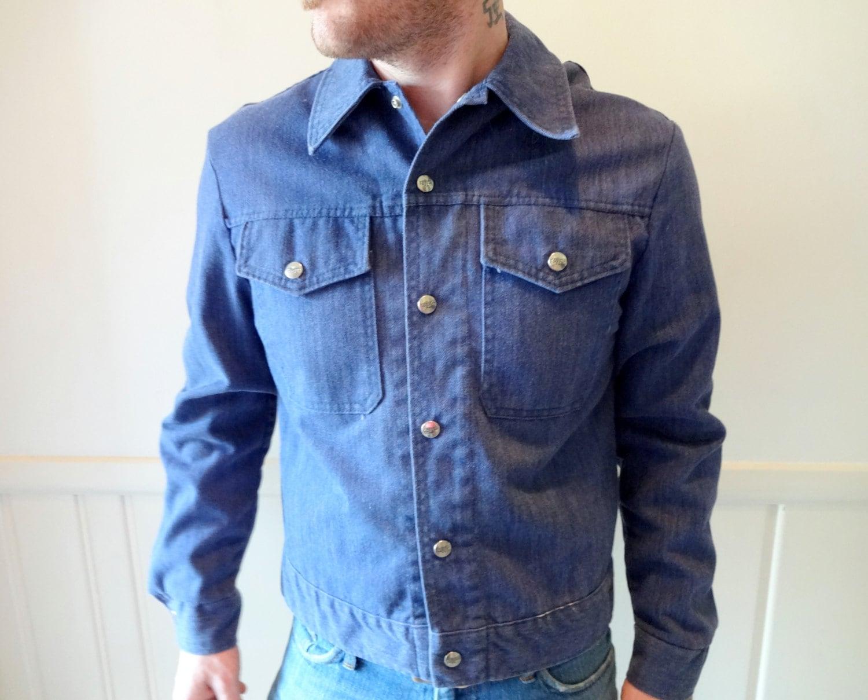 1970s Men's Shirt Styles – Vintage 70s Shirts for Guys Vintage Soft Denim Button Up Shirt 1970S $21.25 AT vintagedancer.com