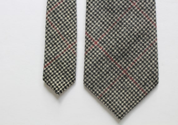 Vintage Polo By Ralph Lauren Houndstooth Wool Nec… - image 5