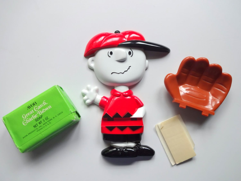 Vintage Avon Charlie Brown Baseball Soap Dish NIB   Etsy