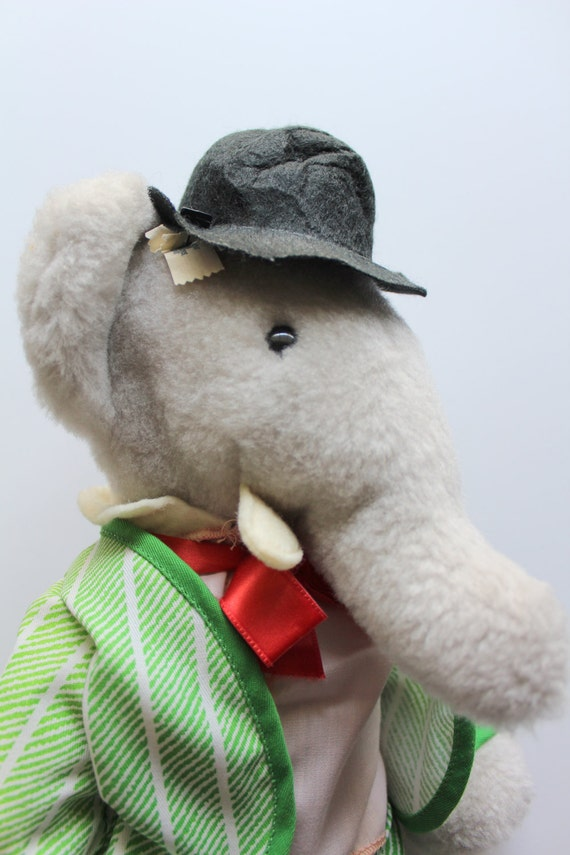 Vintage Babar The Elephant Stuffed Animal By Eden Toys 1977 Etsy