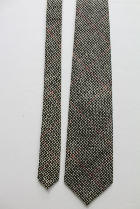 Vintage Polo By Ralph Lauren Houndstooth Wool Nec… - image 4