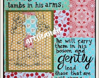 Gently. Original Art Print- 8x10