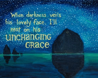Unchanging Grace- Original Oil Painting print