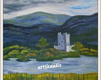 Fortress- original oil painting print