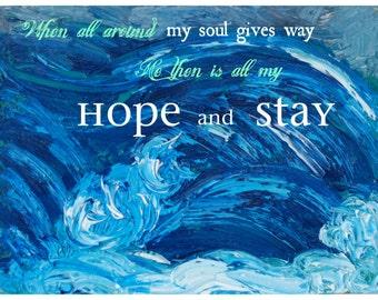 Hope And Stay Original Mixed Media Art Print