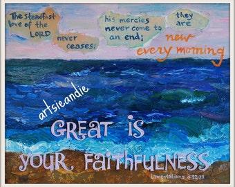 Faithfulness- Oil painting print