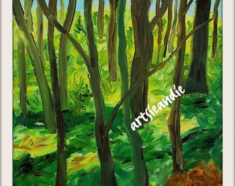Forest- original oil painting print