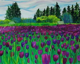 Tulips- original oil painting print
