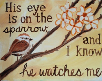 Sparrow- Original Oil Painting Print