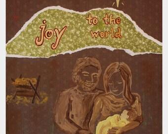 Nativity Original Multi-Media Art  Print