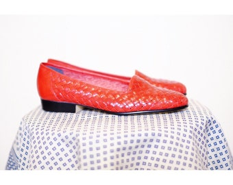 Naturalizer Leather Woven Flats (sz7)