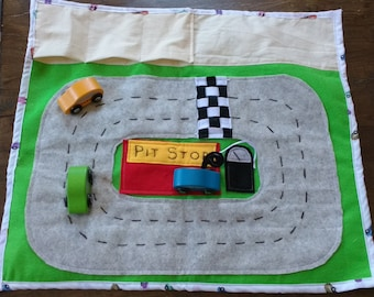 Portable and Compact Racing Car Play Mat Kids (cars not included)