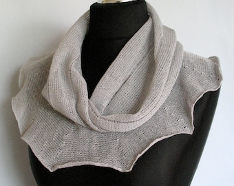 Linen Scarf Pigeon Gray Infinity Scarf Cowl Wrap