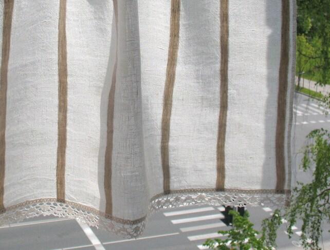 Vorhang Sackleinen Vorhänge Spitze Gardinen Cafe Vorhänge   Etsy