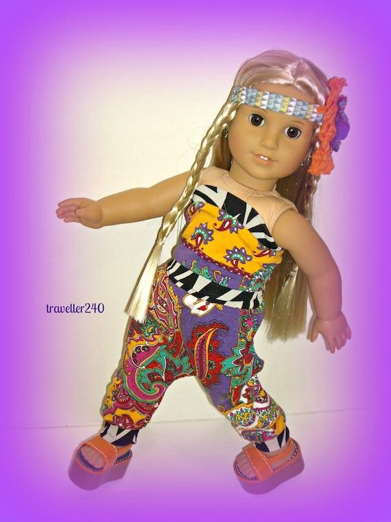 48fef0e8fee Harem Pants and Tube Top 1970s Paisley Print Handmade Doll