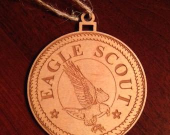 Ornament-Scout Eagle - Laser Engraved