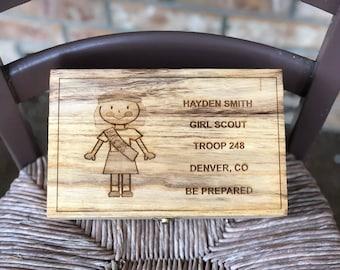 Scout Girl Large Memory Box