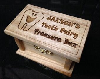 Tooth Fairy Wooden Treasure Box