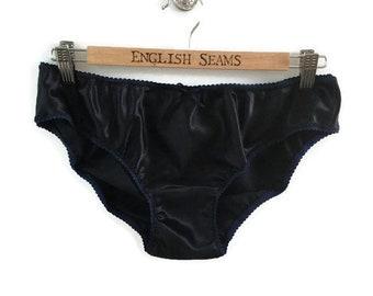 435ea198c223 Silk satin panties, ladies silk knickers, women's silk underwear, silk  panties, navy silk, satin lingerie, silk lingerie, gift for her