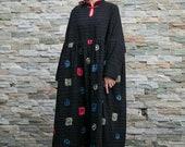Womens winter dress, oversized dress, long sleeve dress, womens dress, dress with pockets, warm dress, full length dress