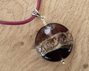 Purple beach bead necklace