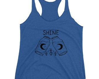 Moonshine Tank - Women's FITTED Tri Blend - XS, S, M, L, XL-  Craft brew, Gardening, Farm, Homestead, home-brew