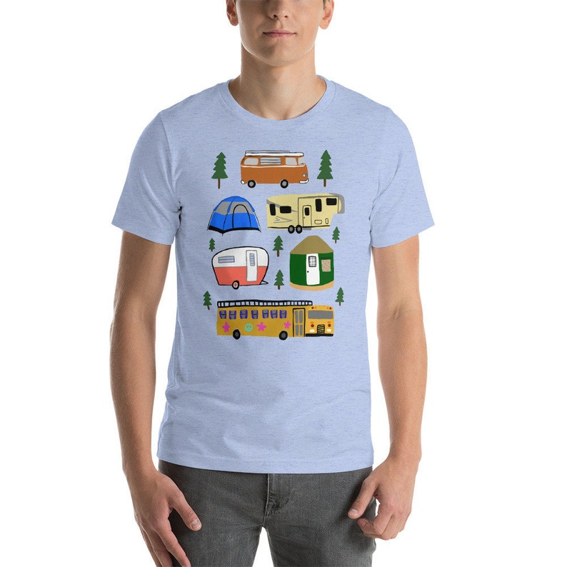 Camping t-shirt  Short-Sleeve Unisex  100% cotton  image 0