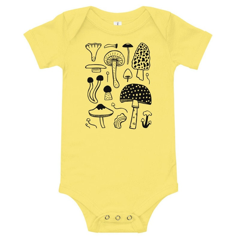 Mushroom  Baby Bodysuit   PNW Oregon Washington illustration image 0