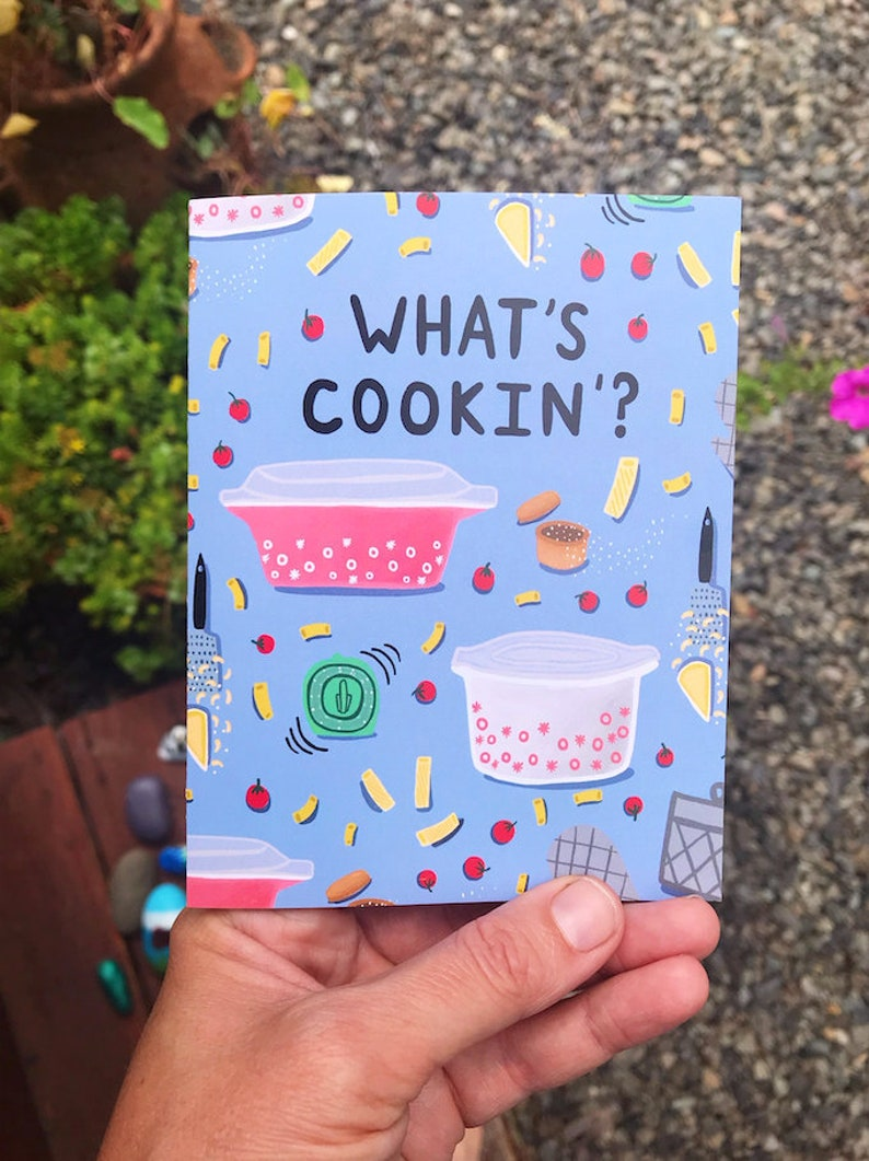 Greeting Card  What's Cookin'  Love friendship image 0