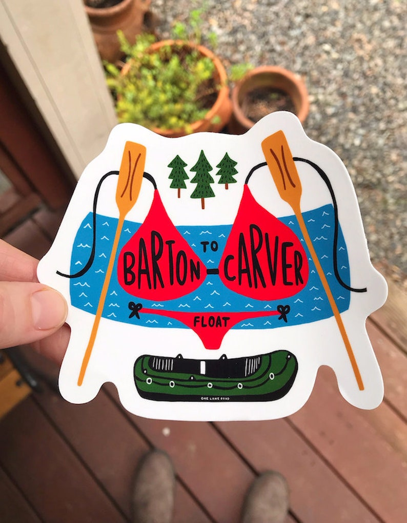 Barton To Carver Float Sticker  Oregon Clackamas River image 0
