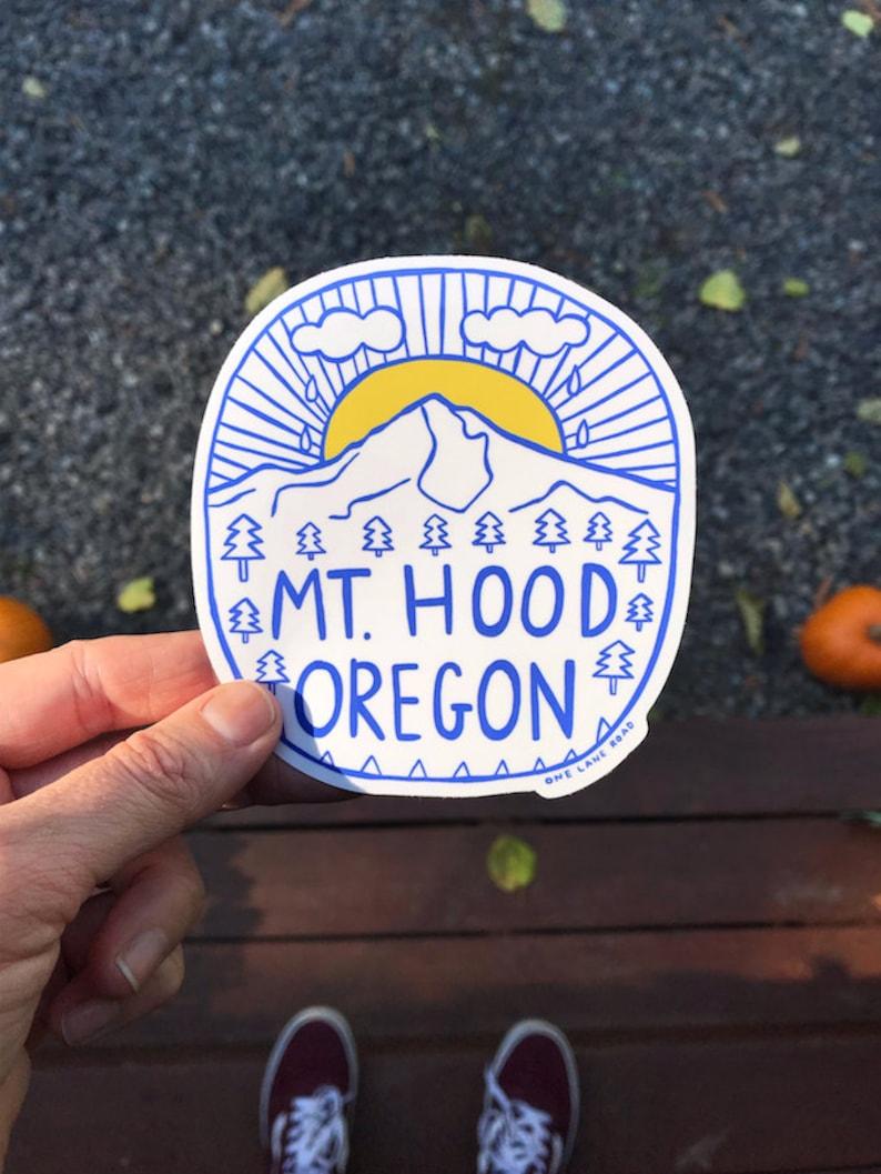 Mt. Hood Oregon Sticker  Mt. Hood Portland PNW Trees image 0
