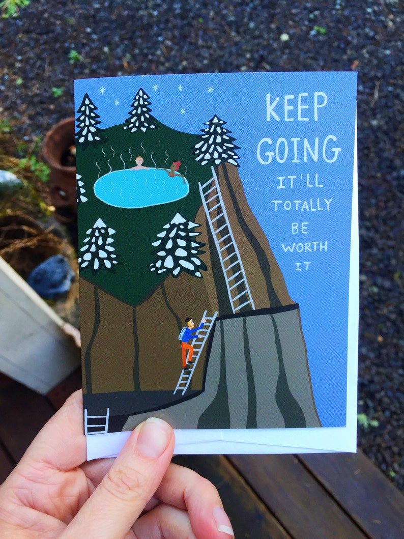 Greeting Card  Keep Going  Outdoors hiking Adventure image 0
