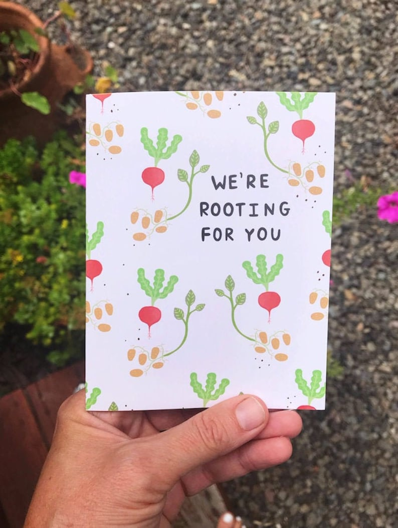 Greeting Card  We're rooting for you  Love friendship image 0