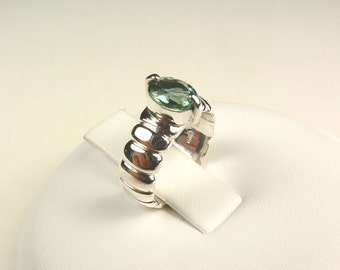 Sterling silver ring with tourmaline