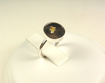 Sterling silver ring with citrine
